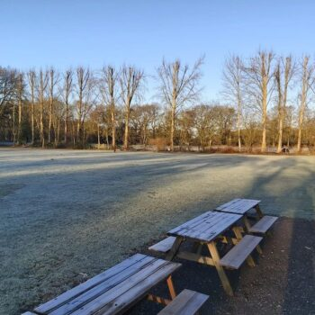 Birchmere Scout Campsite on a frosty morning